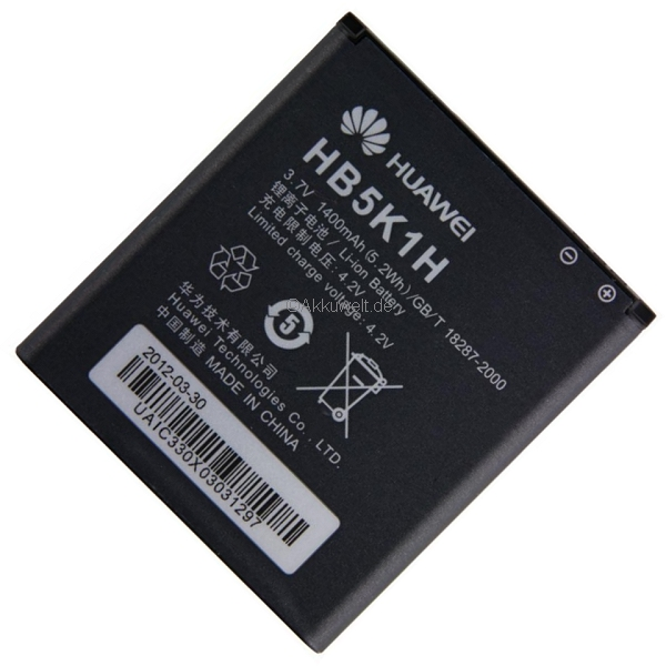 Battery Pack for Huawei Ascend II, Assend Y200 U8655, Sonic U8650, Vision U8850 HB5K1H